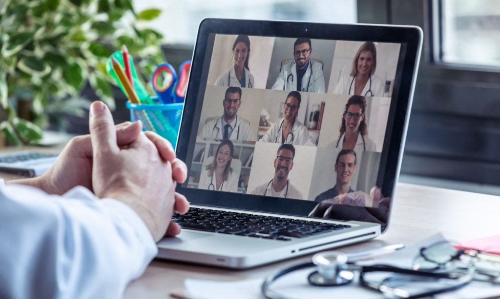 Virtual video conference with doctors
